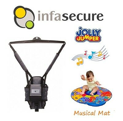 USED INFASECURE Jumping Joey Bouncer + Jolly Jumper Baby Musical Activity Mat