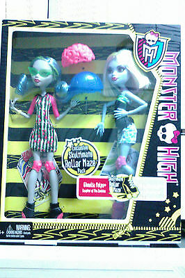 Monster High Roller Maze Pack Ghoulia Yelps  And Abbey
