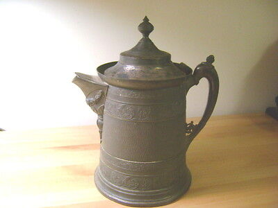 Antique Silver Plate Water/Coffee Urn/Pitcher-Ornate