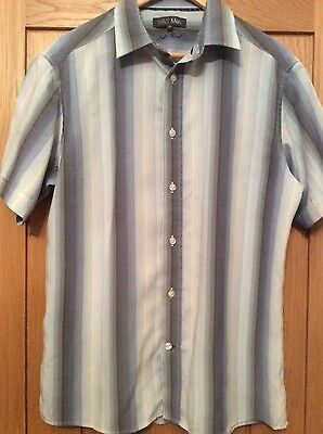 """Mens Medium Short Sleeved Shirt, M&S Man Soft Touch, Pit to Pit 22"""""""