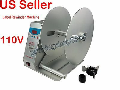Newly Automatic Label Rewinder Adjustable Speed Printer Rewinding Machine