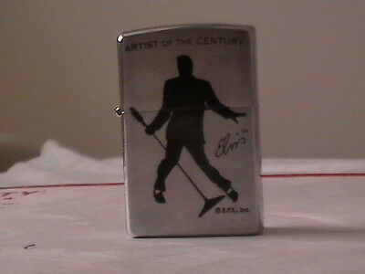 New Beautiful Zippo Lighter With Elvis Presley In Box