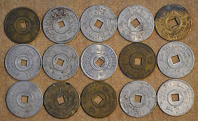 Lot Of 15 Mississippi Tax Tokens