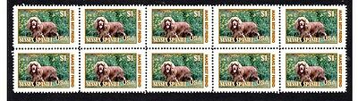 Sussex Spaniel Dog Strip Of 10 Mint Stamps #4