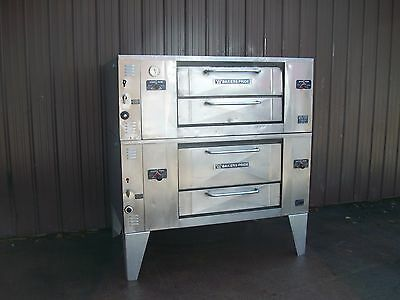 Bakers Pride  Natural Gas Double Deck Pizza Ovens With Stones Ds805