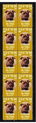 Staffordshire Bull Terrier Strip Of 10 Mint Dog Stamp 2