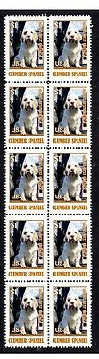 Clumber Spaniel Dog Strip Of 10 Mint Stamps #8