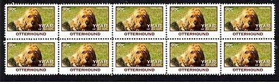 Otterhound Strip Of 10 Mint Year Of The Dog Stamps 1