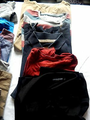job lots mens clothing, t-shirts, jumpers, trousers and a jacket