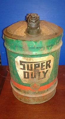 Vintage Supertest 5 Gallon Oil Gas Can Pail : 5 Imperial Gallons Canada