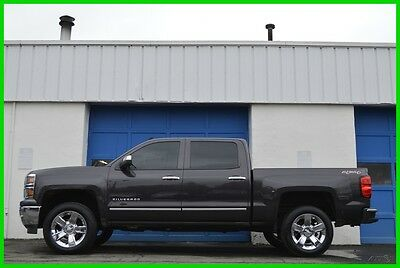 2014 Chevrolet Silverado 1500 LTZ Crew Cab 4X4 4WD Navi Rear Cam Heated Loaded Repairable Rebuildable Salvage Runs Great Project Builder Fixer Door Hit Save