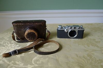 Vintage Leica IIIc 35mm Film Camera Body w/ Case -Great Condition!!