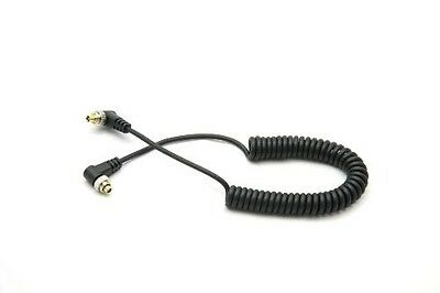 DSLRKIT Male to Male M-M FLASH PC Sync Cable Cord with Screw Lock