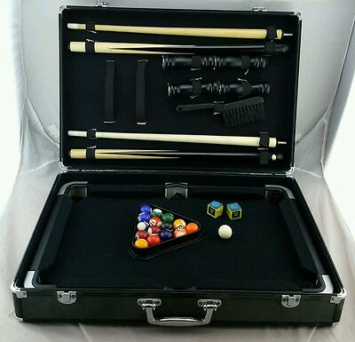 Mini Pool Table in Briefcase complete very nice
