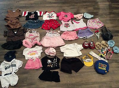 Mixed 30 Piece Lot Of Build A Bear Clothes Shoes Accessories girl outfits