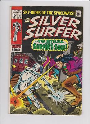 High Grade Marvel Comic: 1969 Silver Surfer #9 Mephisto Appearance    (H045)