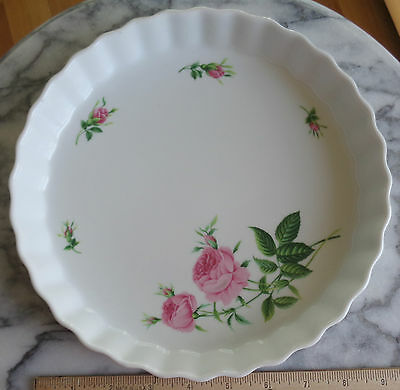 Large Christineholm Quiche / Flan Dish - Roses