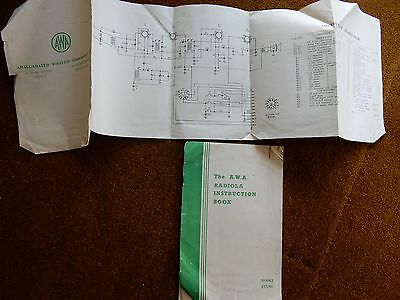 AWA Radiola Instruction booklets