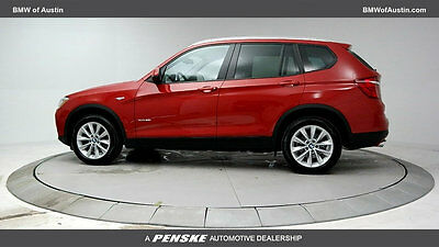 2017 BMW X3 xDrive28i Sports Activity Vehicle xDrive28i Sports Activity Vehicle 4 dr Manual Gasoline 2.0L 4 Cyl Melbourne Red