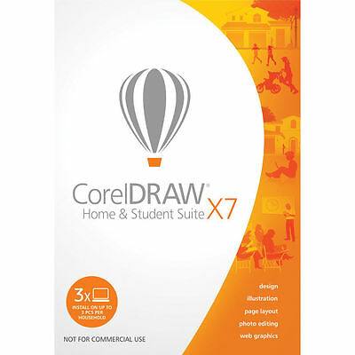 CorelDRAW X7 Home and Student Suite NOT X8 Corel DRAW WIN10 Genuine - AUS STOCK