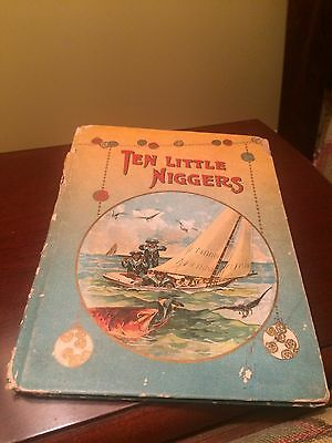 Ten Little Niggers - Early 1900's Black Americana - Very Rare Vintage Book