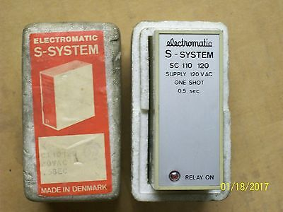 Electromatic Sc 110 120 S-System Relay One Shot 0.5 Second