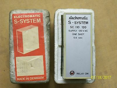 *new* Electromatic S-System Relay One Shot 0.5 Second 10A 10 Amp , Sc 110 120