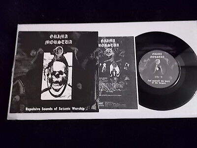 "GRIMA MORSTUA Repulsive Sounds Of Satanic Worship 7"" EP BLACK METAL"