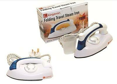 New Portable Folding Travel Dray Steam Iron Non Stick Soleplate Easy Glide 700W