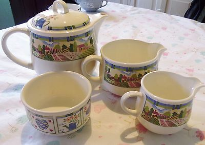 COUNTRY COTTAGE STYLE TEA SET..new