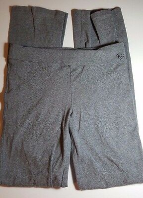 Justice girl's size 18 SUPER CUTE gray stretchy yoga pants