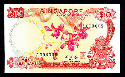 Singapore 10 Dollars $10  ND 1973  EF Note P. 3d B/91 093005