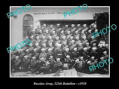OLD HISTORIC MILITARY PHOTO OF THE RUSSIAN ARMY, 225th BATTALION c1910