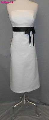 Alfred Sung Ivory 8 Formal Wedding Bridesmaid Prom Cocktail Evening Dance Dress