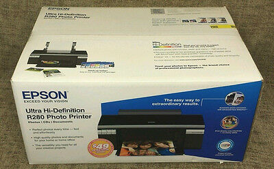 Epson Stylus R280 Ultra Hi-Definition HD Photo Printer *NEW/OPENED* +1 Black Ink