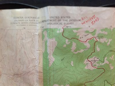 "1963 Geological Survey Map Durango East Colo.US Dept of Interior HUGE 30"" x 50"""