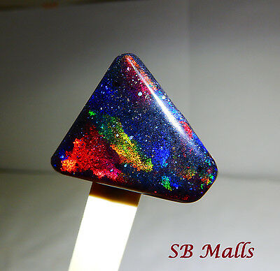 23.8 Cts. HONDURAS BLACK MATRIX HONDURAN BROAD FLASH OPAL CABOCHON LOT 1308