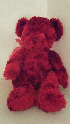 Red Valentines bear by Sherry soft, weighted bottom