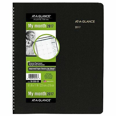 """At-A-Glance Appointment Book 2017, 15 Months, 8-7/8 x 11"""", Black (70-260-05)"""