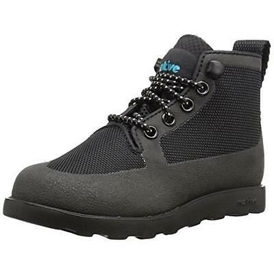 Native 7044 Fitzroy Black Water Resistant Lace Up Casual Boots Shoes 10 BHFO