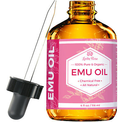 Pure Emu Oil by Leven Rose - Pure, Cold Pressed - 4 oz