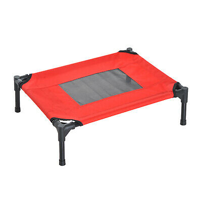 Pawhut Elevated Pet Bed Dog Cool Cot Sleep Indoor Outdoor Portable Basket Red
