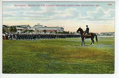 1907 Troops On Parade Grounds, Jamestown Exposition, Virginia