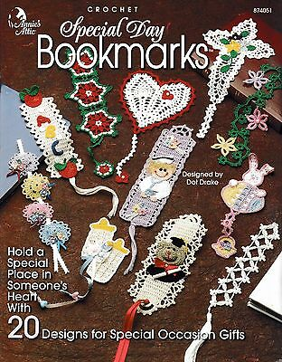 ~ ~ ~ Annie's Attic ~ Special Day Bookmarks ~ 20 Crochet Patterns ~ ~ ~