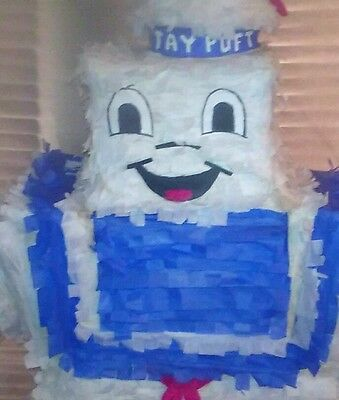 Pinata Ghostbusters Marshmallow Man Piñata Art one of a kind Hand made