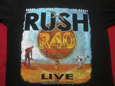Rush R40 2015 Fortieth Anniversary Concert Tour T-Shirt Large