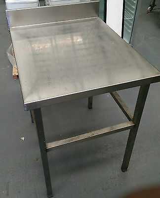 Used  Stainless Steel Work Bench with Splashback 650 mm