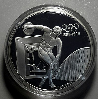 1994 France 100 Francs KM# 1047 1oz Silver Proof Coin GEM FDC Olympic Discus