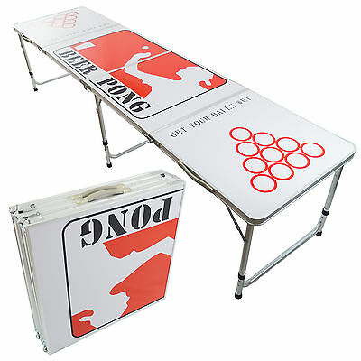New Beer Pong Table 8' Aluminum Folding Indoor Outdoor Tailgate Drinking Game #4