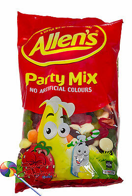 Allen's - Party Mix Lollies-2 X 1.3kg (2.6kg) Allens Bulk Sweets Treats Post Inc